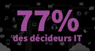 77 % décideurs informatiques