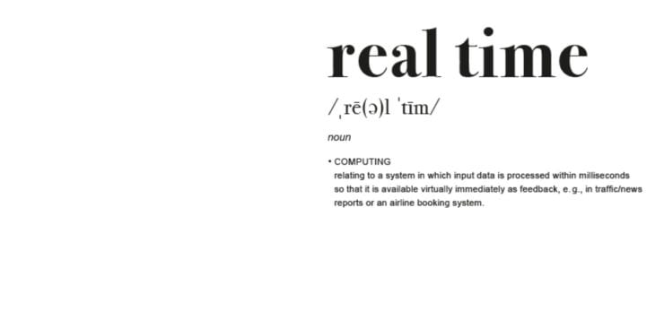 Best Practice : Real Time – Mars 2019