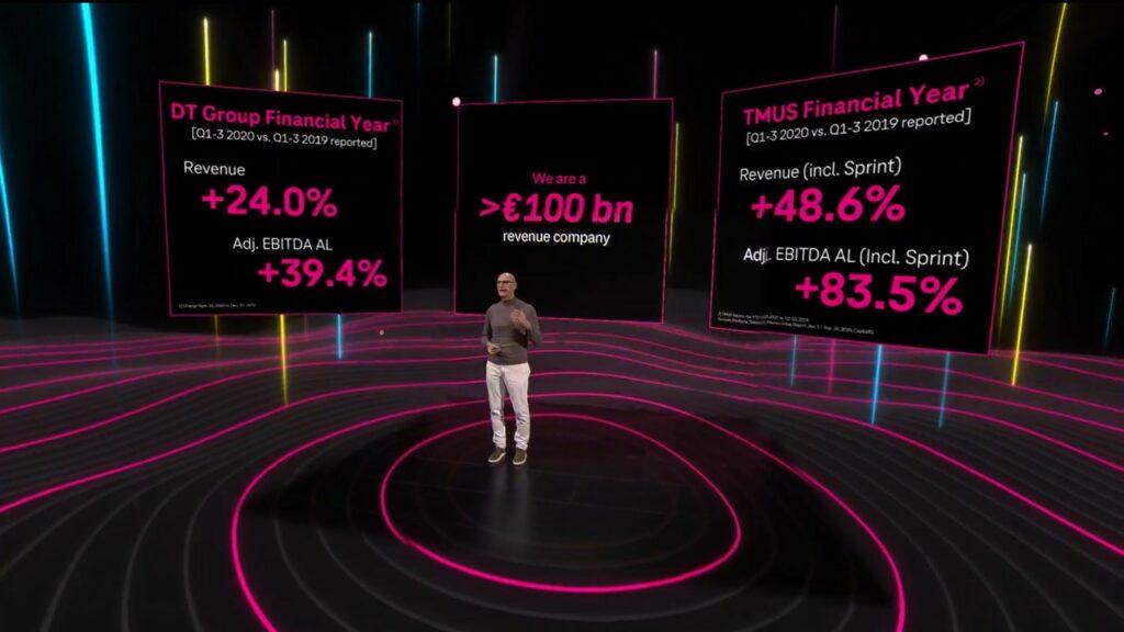 Tim Hottges, CEO de Deutsche Telekom, présente les chiffres pour 2020
